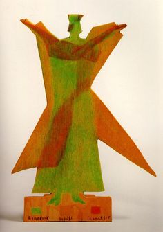 Eurythmy Figures by Rudolf Steiner Painted wood cutout. Colors as indicated by Rudolf Steiner.