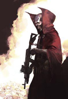 Spawn cover art, Faraz Shanyar on ArtStation at https://www.artstation.com/artwork/spawn-cover-art