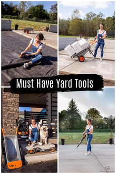 Must Have Yard Tools for your home! All of these yard tools will help you maintain a clean, trimmed yard that you can enjoy! Backyard Projects, Cool Diy Projects, Outdoor Projects, Yard Tools, Big Backyard, Outdoor Doors, Landscape Fabric, Pressure Washing, Marketing Professional