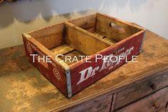 VINTAGE Dr. Pepper Wood Soda Crate w/divider – hundreds more in stock! on Etsy, 18,48€