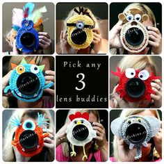 Check out this item in my Etsy shop https://www.etsy.com/listing/200631105/deal-on-3-camera-lens-buddy-crochet-lens