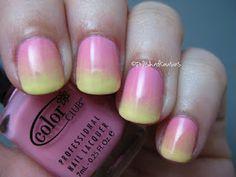 Summery gradient mani
