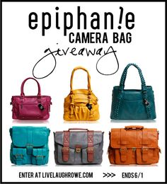 Epiphanie Bag Giveaway at Live Laugh Rowe. #giveaway