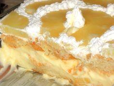 Dit is de ideale taart voor warme zomerdagen. Waarom? Omdat hij heerlijk romig en tropisch smaakt, maar vooral omdat de oven er niet voor aan hoeft! Je kunt de bodem van de taart op twee manieren m… Dutch Recipes, Pastry Recipes, Sweet Recipes, Baking Recipes, Cake Recipes, Dessert Recipes, Bread Cake, Pie Cake, Gelato Recipe