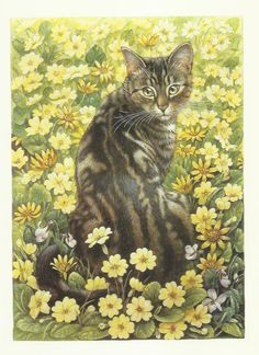 Tabby Cat by Lesley Anne Ivory 1989 colour by OLDBOOKSMAPSPRINTS, £10.00