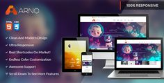 ARNO is a modern and responsive HTML5 template with a clean and professional design which will be a great solution for your business, portfolio, blog or any other purpose website.