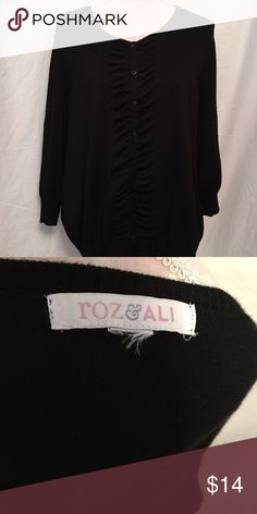 PLUS SIZE CARDIGAN A casual sweater that you can wear over those sleeveless tops, pair with jeans or dress pants and a neutral tea for an easy work to weekend look you'll love. roz & ali Sweaters Cardigans