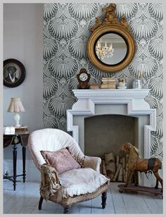 Wallpaper Wednesday: Farrow and Ball Lotus Gorgeousness - Love Chic Living