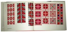 This 1977 book, Arabesque: Decorative Needlework from the Holy Land by Ziva Amir, contains 98 color counted-stitch embroidery patterns of traditional designs from the Near East. Embroidery Tattoo, Embroidery Motifs, Diy Embroidery, Cross Stitch Embroidery, Embroidery Designs, Embroidery Books, Cross Stitch Borders, Cross Stitch Designs, Palestinian Embroidery