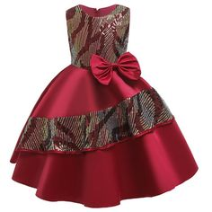 Summer Flower Girls Dresses Kids Birthday Sleeveless Party Dress for Girls Infant Children Silk Tutu Dress for Girl Clothes African Dresses For Kids, African Wear Dresses, Latest African Fashion Dresses, Dresses Kids Girl, Kids Outfits Girls, Girls Party Dress, Girl Outfits, Baby Dresses, Dress Party