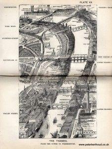 """Bird's-Eye View"" Maps of Victorian London London Map, Old London, London City, Victorian London, Vintage London, Old World Maps, Old Maps, London History, British History"