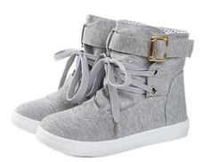 """Fashion Women's Boots With Buckle and Lace-Up Design Color: BLUE, GRAY, BLACK Size: 36, 37, 38, 39 Category: Shoes > Women's Shoes > Womens Boots   Gender: For Women  Boot Type: Fashion Boots  Boot Height: Ankle  Toe Shape: Round Toe  Heel Type: Flat Heel  Heel Height Range: Flat(0-0.5"""")  Closure Type: Slip-On  Shoe Width: Medium(B/M)  Pattern Type: Solid  Embellishment: Buckle  Upper Material: Cloth  #bestdealonwomensboots #bestboots #dealonboots #womensboots #bridgat.com"""