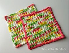 How to crochet the moss stitch (video tutorial & diagram)