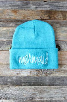 edd469a851a MERMAID BEANIE - Beach Lover Mermaid Hat