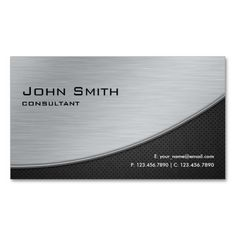 Professional Elegant Modern Computer Repair Silver Business Cards. This is a fully customizable business card and available on several paper types for your needs. You can upload your own image or use the image as is. Just click this template to get started!