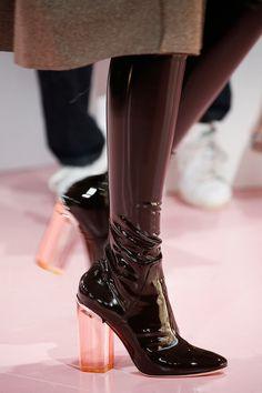 Transparent heels.
