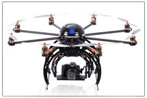 Droidworx makes flying camera mounts for amazing aerial shots.