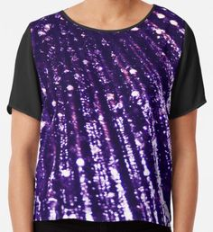 Triton´s Secrets - Dark Purple  Chiffon Top Purple Art, Yellow Art, Green Art, Dark Purple, Watercolor Circles, Watercolor Texture, Watercolor Pattern, Mermaid Art, Wearable Art