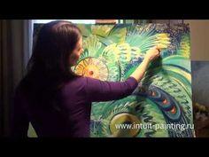 Intuitive painting. Акрил. Алена Островская. Сказка - YouTube
