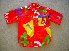 80s JAMS Surf Line Shirt - Vintage 1985 Jams Short Sleeve Shirt - Men's Red Cotton Shirt - 1980s Jams Shirt - Mens Size Small