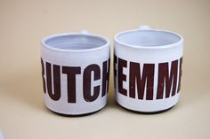 Butch+and+Femme+coffe+or+tea+ceramic+mugs+set+of+by+BangBangCrafts,+$50.00