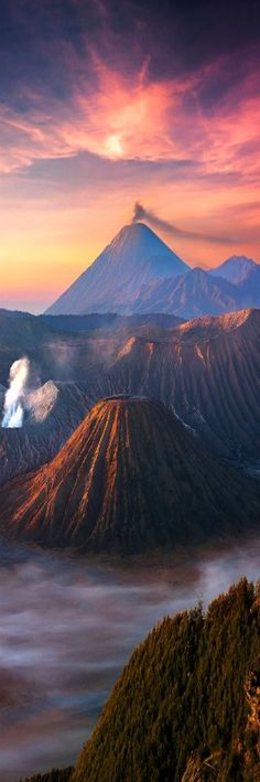 Another World by İlhan Eroglu ... Mount Bromo, is an active volcano and part of the Tengger massif, in East Java, Indonesia.