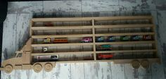 Toy car stotage Boys bedroomwall mounted lorrycar display
