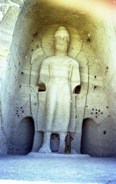 Buddha near Bamiyan, Afghanistan 1978 According to the world press, this 1500 years old Buddha was destroyed by the Taliban.