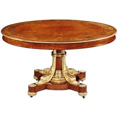 A Rare George IV Ormolu Mounted Centre Table attribution to the royal cabinet-makers Morel & Seddon, England, circa 1830| From a unique collection of antique and modern center tables at https://www.1stdibs.com/furniture/tables/center-tables/
