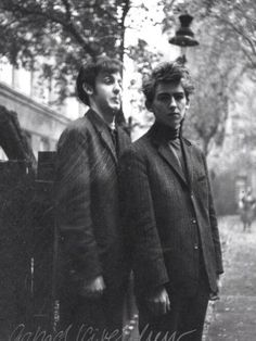 Paul McCartney, 18, and George Harrison, 17, in Hamburg, 1960