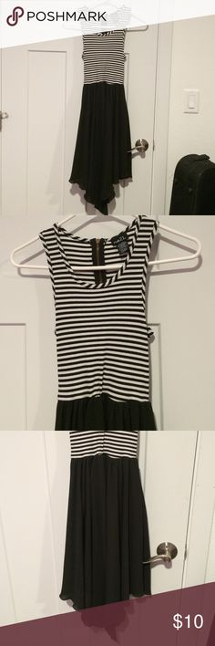 Rue21 black and white dress Black and white Rue 21 dress, worn once. Rue 21 Dresses Asymmetrical