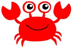 Red Crab by @Scout, A clipart of cute red crab.