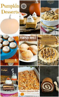 Pumpkin Desserts - a delicious collection of pumpkin desserts perfect for Fall entertaining