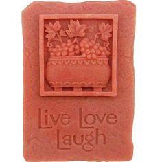 Live Love Laught Shape Silicone Mould Handmade Soap Mold Biscuit Mold