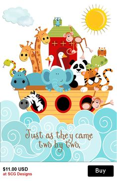 Noah's Ark Baby Shower Invitation-2 Sided