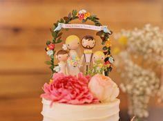 custom family cake topper