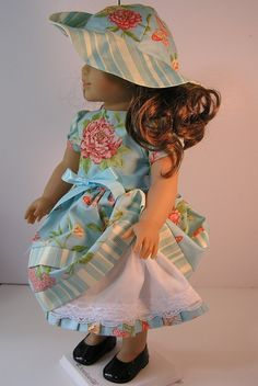 Party Dress and Hat 18 Inch Doll by blinkersoh on Etsy