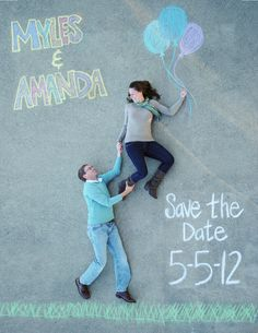 Bridal Musings - Creative Save The Date Photo Using Chalk Ideias Para Save The Date, Save The Date Fotos, Funny Save The Dates, Unique Save The Dates, Funny Save The Date Ideas For Weddings, Before Wedding, Our Wedding, Dream Wedding, Wedding Ideas
