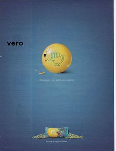 2009 magazine ad M&M's EASTER mms M&M advertisement print yellow