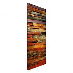 Magnettafel - #Bretterstapel - Memoboard Hoch 78cm x 37cm#Magnettafel #Memoboard #Pinnwand #Holz