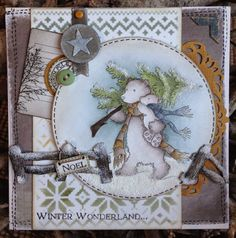 Crafty Lou's Small World.: LOTV....Collecting the tree (Inktense Pencils)