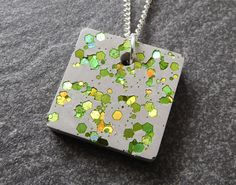 Lime green necklace contemporary jewelry lime green gift