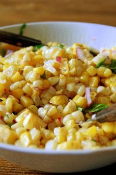 Fresh Corn Salad Basil