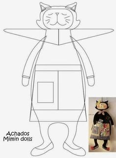 Mimin toys: dona gata de avental