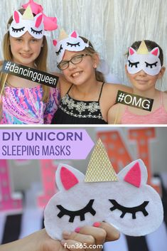 Help guests make their own DIY unicorn masks at your next birthday party or hand them out as party favors for guests to take home! We can't believe how cute this simple project is from Marcy of Simply Sprout.
