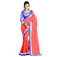 Tremendous Chiffon Embroidered Festive Wear & Party Wear Saree at just Rs.620/- on www.vendorvilla.com. Cash on Delivery, Easy Returns, Lowest Price.