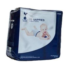 12 Pack Of Disposable Baby Nappies To Fit Approx 4 Top Sheet: Non Woven Absorbent Layer: Tissue, Fluff Pulp And SAP Tape: Refastenable Tape In A Display Pack Official Licensed Product Product model: Disposable Nappies, Spurs Fans, Tottenham Hotspur Fc, Tape, Display, Fitness, Model, Gifts, Band
