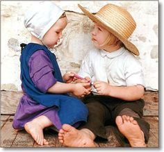 Amish kids. Photo by Bill Coleman.