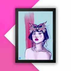 Ping Art Print A3 Cellophane Bags, All Print, A3, Masquerade, Peony, Paper, Illustration, Prints, Cellophane Gift Bags