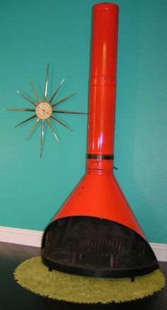 Preway metal cone fireplace- we had one in garage apartment in college!!
